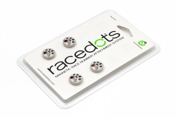 PAW – 4 darab RaceDots rajtszámtartó mágnes