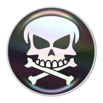 SKULL – RaceDots rajtszámtartó mágnes