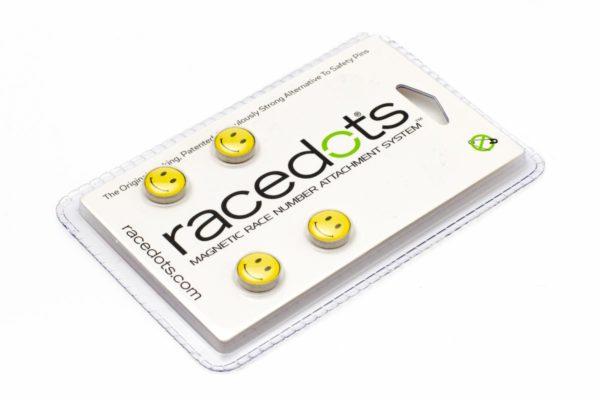 SMILEY – 4 darab RaceDots rajtszámtartó mágnes